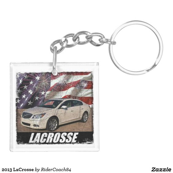2013 LaCrosse Double-Sided Square Acrylic Keychain