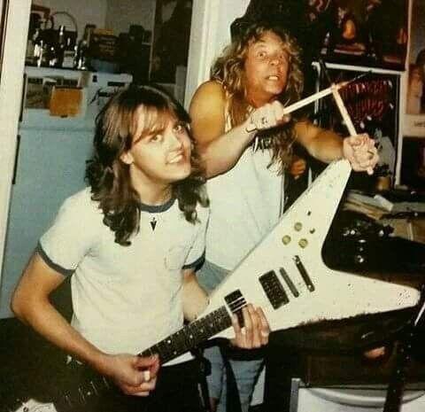 Lars Ulrich And James Hetfield Metallica Heavy Metal Music Megadeth