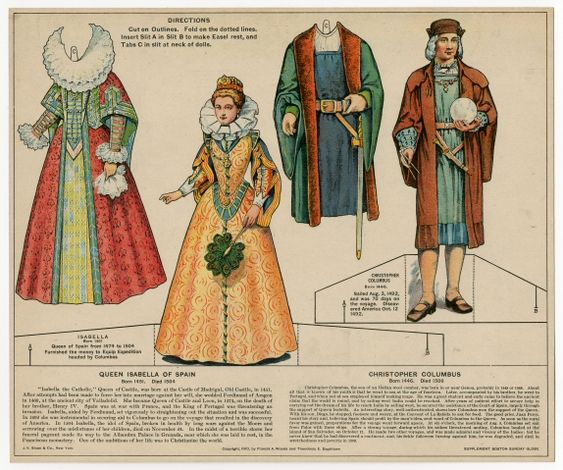 006 Christopher columbus, Doll set and Paper dolls on Pinterest