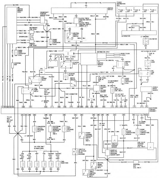 1984 jeep cj7 wiring diagram | jeep cj7, cj7, ford ranger  pinterest