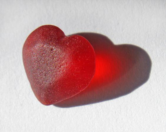 Seaglass heart:
