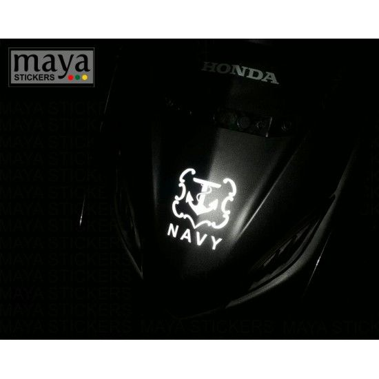 Indian Navy Logo Emblem Custom Sticker Decal For Cars Bikes