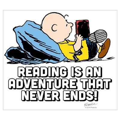 Image result for charlie brown reading book