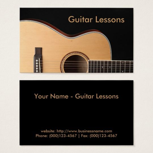 Business Card Guitar Lessons Business Card Business Cards Guitar Lessons Cards