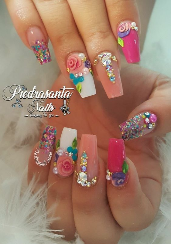80 Trendy 3d Nail Art Designs You Will Love 2019 Jewe Blog Floral Nails Nail Designs Unicorn Nails