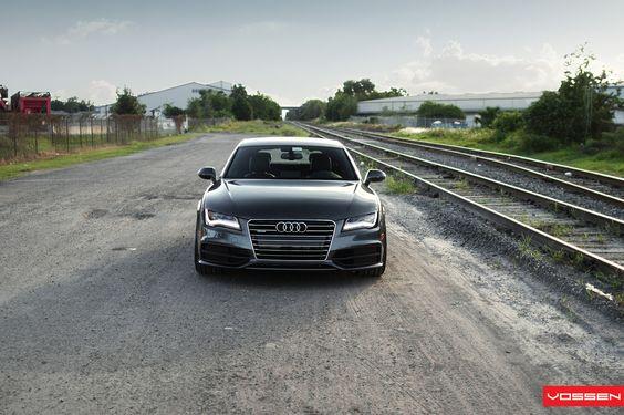 Audi A7 Sportback On Vossen Wheels Photo Gallery_5 (1600×1066) | Low Is  A Lifestyle. | Pinterest | Vehicle Ideas