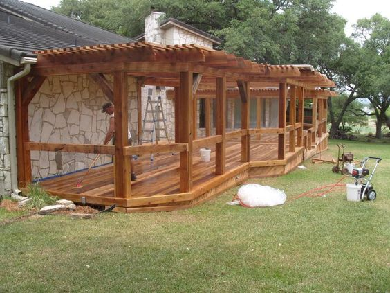 Wood Deck Designs, Arbors And Wood Patio On Pinterest