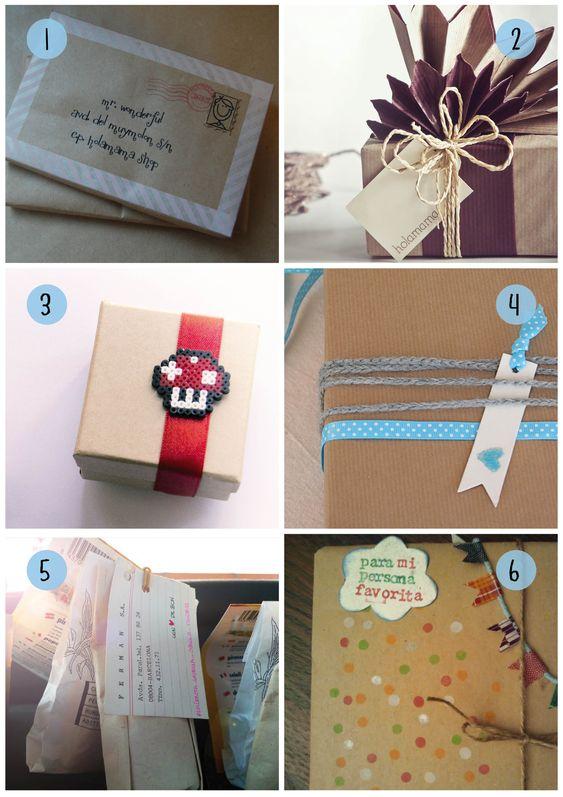 Envoltorios originales para regalos navidad buscar con for Regalos originales para navidad manualidades