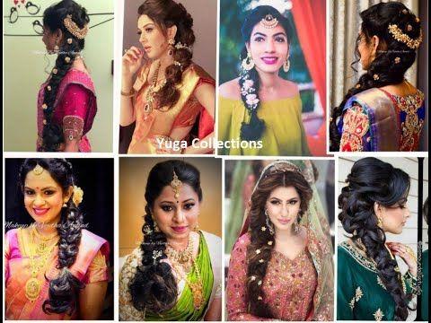 Bridal Hairstyles Part 2 Poolajada Side Braids Hairdos Engagement Hairstyle Bridalhairstyles Youtub Hair Styles Braided Hairdo Indian Bride Hairstyle