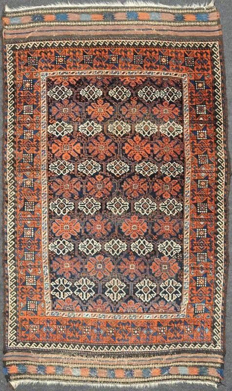 """Antique Baluch rug - 185 x 114 cm ( 6' 1"""" x 3' 9"""" )"""