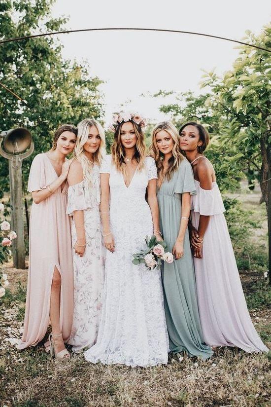 Boho Bridesmaides Dresses Bridesmaid Dresses Boho Bohemian Wedding Theme Boho Wedding Inspiration