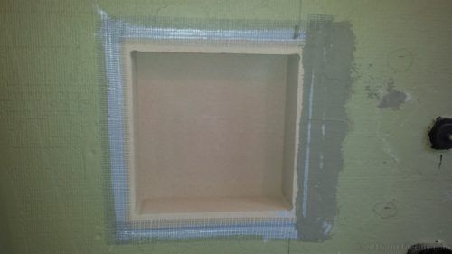 Mesh Tape Mud Foam Niche Shower Niche Bathroom Wall Tile Shower Tile