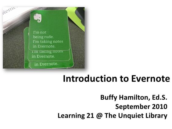 Introduction to Evernote