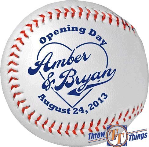 Throw & Tell: Baseball Wedding Favors & Gifts sports save the dates, baseball save the dates #wedding #sports