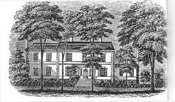 Liberty-Hall, with one bedroom Governor Livingston added on the left in 1789, for Martha Washington to stay in on her way to her husband's first inauguration.