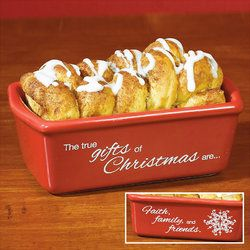 """True Gifts of Christmas"" Mini Loaf Pan"