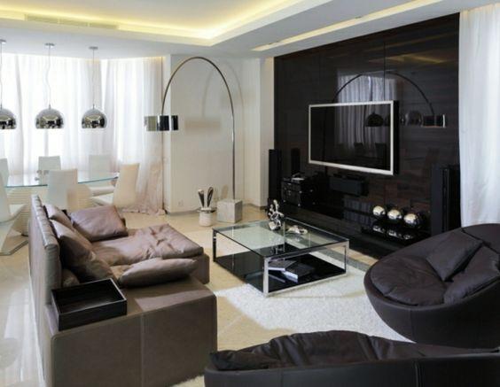 wohnzimmer vorschlage tv wandpaneel 35 ultra moderne vorschlge - glastische f r wohnzimmer
