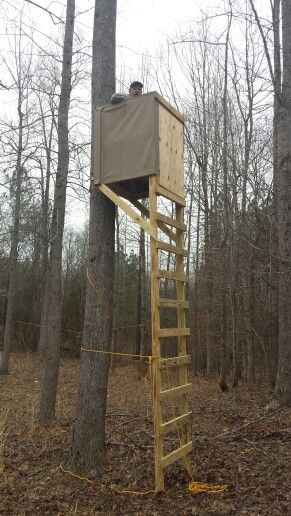 Diy ladder deer stand pinteres for Deer hunting platforms