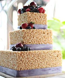 Rice Krispies cake !!!..@Angela Johnson, thought you would like this...I am so doing this for your birthday one year.