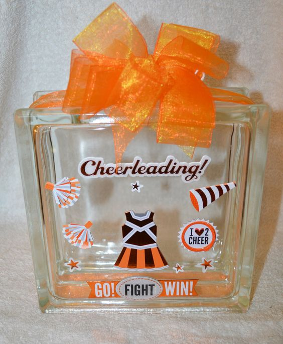 Cheerleading 3D GLASS BLOCK