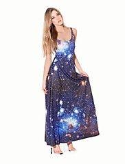 kvinders galaxy himmel mode lang kjole aftenkjo... – DKK kr. 189