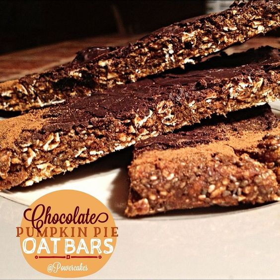 Chocolate Pumpkin Pie Oat Bars!.