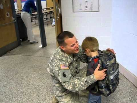 child with Autism gets a a surprise visitor at school.