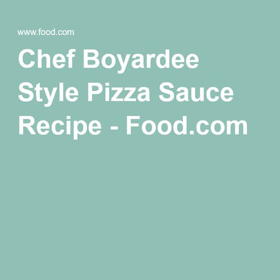 Chef Boyardee Style Pizza Sauce Recipe - Food.com