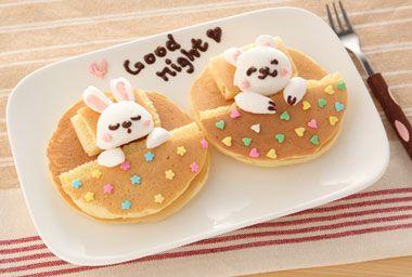 妊娠・出産・育児情報/かんたん・楽しい・お絵かきキャラ弁/ホットケーキでもっと楽しく--- ホットケーキでお昼寝♪