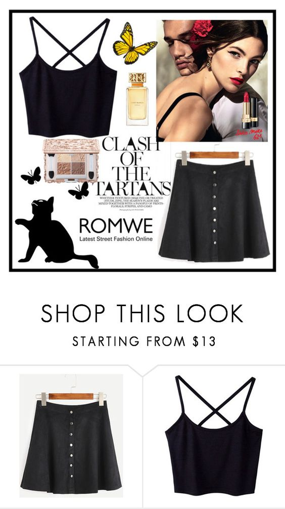 """""""Romwe"""" by love88-90 ❤ liked on Polyvore featuring Dolce&Gabbana and Tory Burch"""
