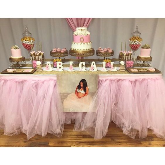 themed baby showers dessert tables babies weird showers tutus desserts