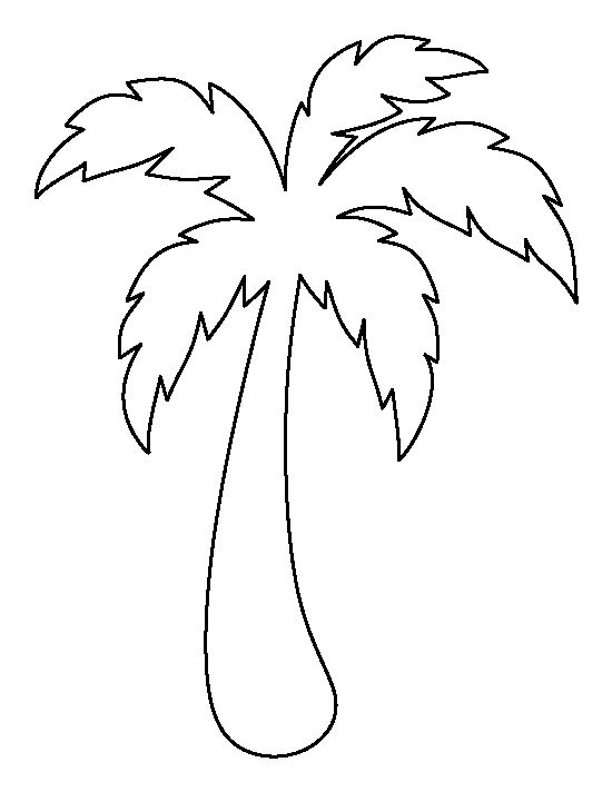 Palm tree pattern. Use the printable outline for crafts, creating