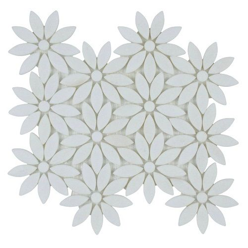 Crystal White Marble Flower Mosaic Tile Sheet Stone Mosaic Tile Mosaic Tile Sheets Stone Mosaic