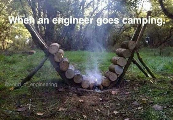 When an #engineer goes camping