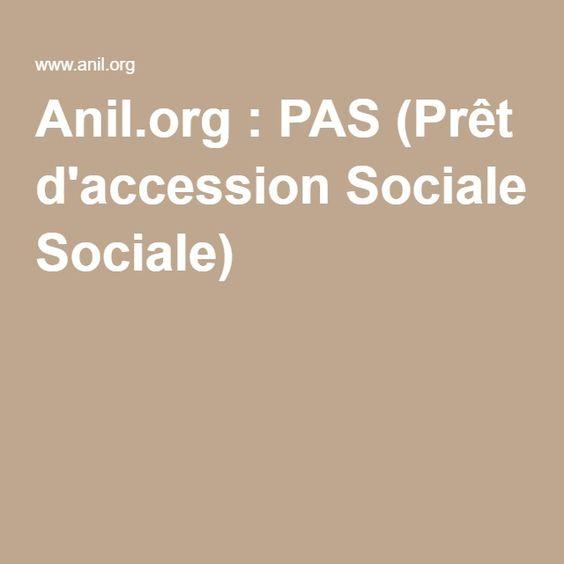 Anil.org : PAS (Prêt d'accession Sociale)