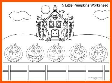Pumpkin song five little pumpkins and five little on for 5 little pumpkins coloring page