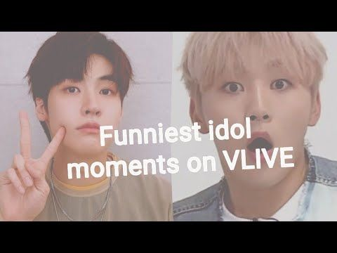 Funniest Kpop Idol Moments On Vlive Pt1 In This Moment Kpop Idol Idol