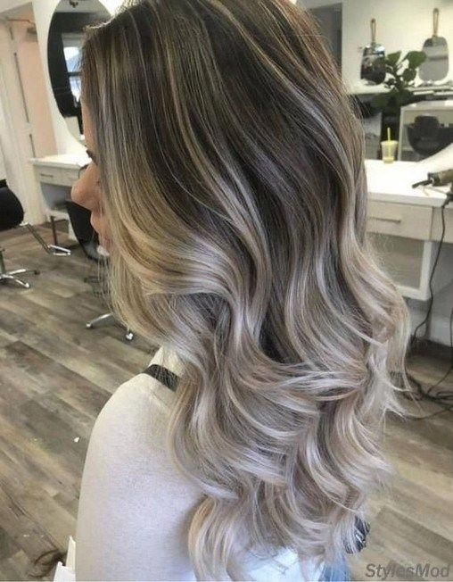 balayage ash highlights