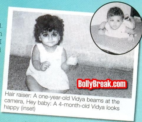 Image result for Vidya Balan childhood pic transformation