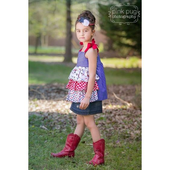 This ruffle tunic / shirt sewing pattern is perfect for sweet little girls and their dolls. This shirt sports three layers of ruffle along the front of the top. Mix and match fabrics for a very cute result! Wear this tank alone in the summer and add long sleeves beneath for winter. You are purchasing …