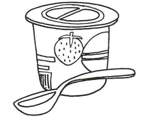 Yogurt Para Colorear Coloring Pages Colorful Pictures Free Hd