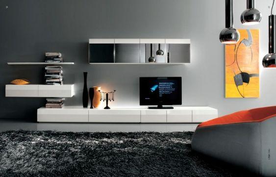 TV-Möbel für Wohnzimmer-Design Gestaltung-Ideen modern