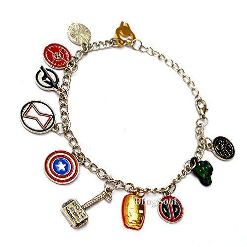 Mrvl 11 Superheroes Charm Bracelet Blingsoul Https Www Amazon Com Dp B01j3c4mg8 Ref Cm Sw R Pi Dp X 1mppybw1kmx0b Marvel Jewelry Marvel Fandom Jewelry