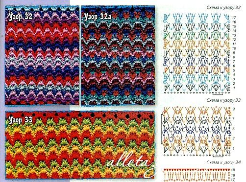 crochet stitches with diagrams