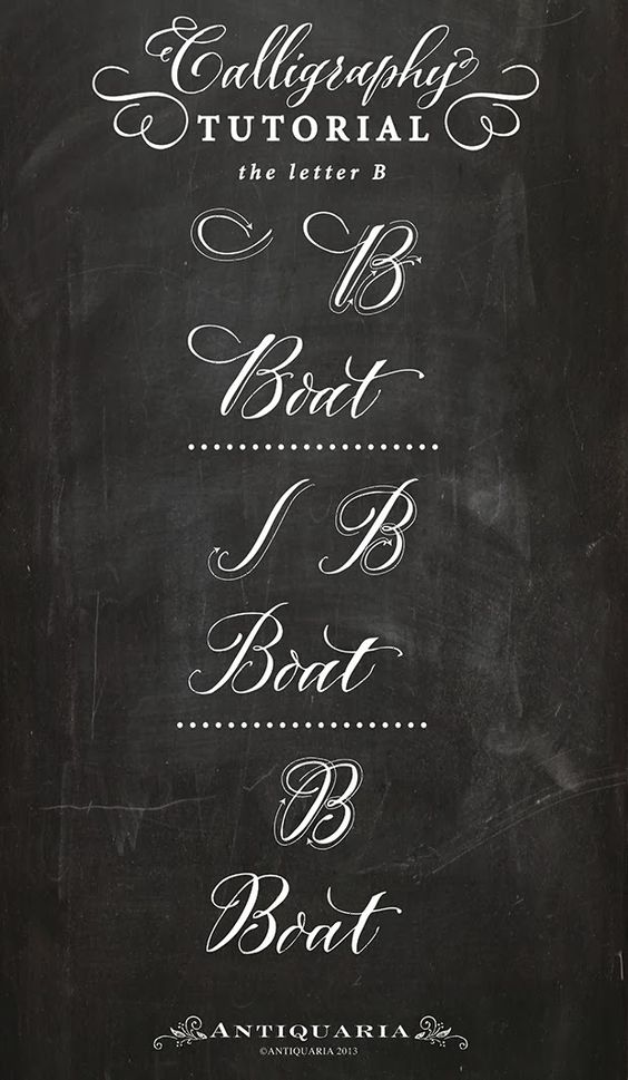 Calligraphy tutorial letter b and on pinterest