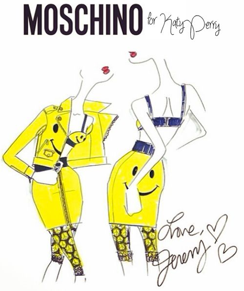 Fabulous Doodles-Fashion Illustration Blog-by Brooke Hagel: Katy Perry Tour Costume Sketches