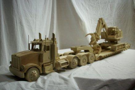 truck -lowboy -feller buncher
