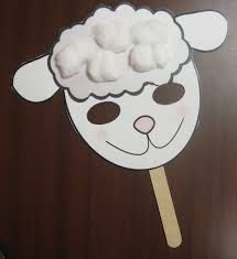 link to google image search of various sheep mask templates that kids can decorate