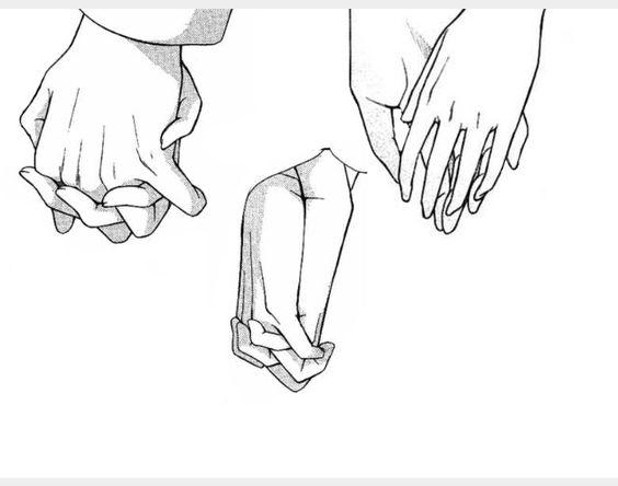 Close Ups Of Hands Holding For Drawing Tutorial Menggambar Anime Gambar Ide Menggambar