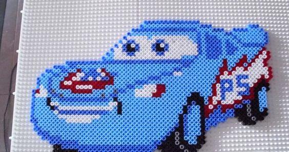 Cars character hama beads by Memekan | Hama Beads | Pinterest | Hama Beads, Perler Beads and Beads